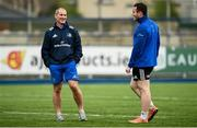 10 December 2018; Stuart Lancaster, left, and Peter Dooley during Leinster Squad Training at Energia Park in Donnybrook, Dublin. Photo by David Fitzgerald/Sportsfile