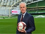 11 December 2018; SPAR, Ireland's leading convenience retail group, and the Football Association of Ireland today announced a sponsorship agreement which will see SPAR renew as the Official Convenience Store of the FAI. The announcement took place at the Aviva Stadium with the Republic of Ireland's new manager Mick McCarthy along with head coach of the Republic of Ireland Women's International Senior Team, Colin Bell in attendance. The partnership between SPAR and the FAI began in 2015 encompassing the Irish national football team and the hugely successful SPAR FAI Primary School 5s Programme. Pictured is Mick McCarthy, Republic of Ireland manager during the 2018 SPAR and FAI Sponsorship Renewal at the Aviva Stadium in Dublin. Photo by Seb Daly/Sportsfile
