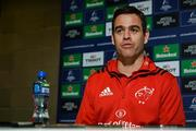 11 December 2018; Head coach Johann van Graan during a Munster Rugby press conference at the University of Limerick in Limerick. Photo by Diarmuid Greene/Sportsfile