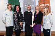 11 December 2018; In attendence from left, are Arthur Lanigan-O'Keeffe, Ireland Modern Pentathlete, along with Patricia Heberle, Chef De Mission Tokyo 2020, John Treacy, Chief Executive Sport Ireland, Sarah Keane, President of Olympic Federation of Ireland and Nicci Daly, Ireland International Hockey player as the Olympic Federation of Ireland & Sport Ireland Institute launch ground-breaking new performance support ahead of Tokyo 2020 at the Sports Ireland Institute, in Abbotstown, Dublin. Photo by Sam Barnes/Sportsfile