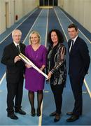 11 December 2018; John Treacy, Chief Executive Sport Ireland, Sarah Keane, President of Olympic Federation of Ireland, Patricia Heberle, Chef De Mission Tokyo 2020, Peter Sherrard, CEO, Olympic Federation of Ireland, in attendence as the Olympic Federation of Ireland & Sport Ireland Institute launch ground-breaking new performance support ahead of Tokyo 2020 at the Sports Ireland Institute, in Abbotstown, Dublin. Photo by Sam Barnes/Sportsfile