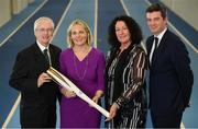 11 December 2018; In attendance from left, are, John Treacy, Chief Executive Sport Ireland, Sarah Keane, President of Olympic Federation of Ireland, Patricia Heberle, Chef De Mission Tokyo 2020, Peter Sherrard, CEO, Olympic Federation of Ireland, as the Olympic Federation of Ireland & Sport Ireland Institute launch ground-breaking new performance support ahead of Tokyo 2020 at the Sports Ireland Institute, in Abbotstown, Dublin. Photo by Sam Barnes/Sportsfile