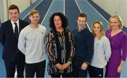 11 December 2018; In attendance from left, Peter Sherrard, CEO Olympic Federation of Ireland, Arthur Lanigan-O'Keeffe, Ireland Modern Pentathlete, Patricia Heberle, Chef De Mission Tokyo 2020, Shane O'Connor, Olympic Federation of Irealnd Athletes Commission, and Sarah Keane, President of Olympic Federation of Ireland as the Olympic Federation of Ireland & Sport Ireland Institute launch ground-breaking new performance support ahead of Tokyo 2020 at the Sports Ireland Institute, in Abbotstown, Dublin. Photo by Sam Barnes/Sportsfile