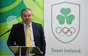 11 December 2018; Liam Harbison, Director of Sport Ireland Institute, speaking as the Olympic Federation of Ireland & Sport Ireland Institute launch ground-breaking new performance support ahead of Tokyo 2020 at the Sports Ireland Institute, in Abbotstown, Dublin. Photo by Sam Barnes/Sportsfile