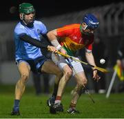 11 December 2018; Eoin Nolan of Carlow in action against Chris Crummey of Dublin during the Walsh Cup Round 1 match between Carlow and Dublin at Netwatch Cullen Park in Carlow. Photo by Harry Murphy/Sportsfile