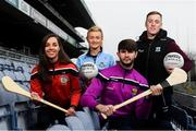 12 December 2018; In attendance, from left, Cork camogie player Julia White, Dublin ladies footballer Carla Rowe, Wexford hurler Paudie Foley and Fermanagh footballer Cian McManus at the GAA/OCO Rights Awareness Resource Launch at Croke Park in Dublin. Photo by David Fitzgerald/Sportsfile