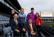 12 December 2018; Uachtarán Chumann Lúthchleas Gael John Horan alongside Dr. Niall Muldoon, Ombudsman for Children with, from left, Fermanagh footballer Cian McManus, Dublin ladies footballer Carla Rowe, Wexford hurler Paudie Foley and Cork camogie player Julia White in attendance at the GAA/OCO Rights Awareness Resource Launch at Croke Park in Dublin. Photo by David Fitzgerald/Sportsfile