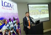 12 December 2018; Dr. Niall Muldoon, Ombudsman for Children speaking at the GAA/OCO Rights Awareness Resource Launch at Croke Park in Dublin. Photo by David Fitzgerald/Sportsfile