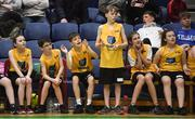 12 December 2018; Children from St Brendan's NS, Tralee, Co. Kerry cheer on their team mates during the Basketball Ireland Jr NBA Festival of Basketball at the National Basketball Arena in Tallaght, Dublin. Photo by David Fitzgerald/Sportsfile