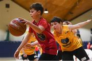 12 December 2018; Action from the game between St. Brendan's NS, Tralee, C. Kerry and Scoil Iognaid, Co Galway during the Basketball Ireland Jr NBA Festival of Basketball at the National Basketball Arena in Tallaght, Dublin. Photo by David Fitzgerald/Sportsfile