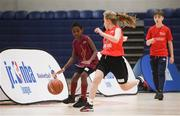 12 December 2018; Action from the game between St. Benedict's NS, Ongar, Co. Dublin and Abbey Community College, Belfast, Co. Antrim during the Basketball Ireland Jr NBA Festival of Basketball at the National Basketball Arena in Tallaght, Dublin. Photo by David Fitzgerald/Sportsfile