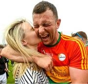 27 May 2018; Darragh Foley of Carlow celebrates with his girlfriend Shona Delaney after the Leinster GAA Football Senior Championship Quarter-Final match between Carlow and Kildare at O'Connor Park in Tullamore, Offaly. Photo by Matt Browne/Sportsfile