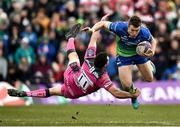 31 March 2018; Matt Healy of Connacht is tackled by Tom Marshall of Gloucester during the European Rugby Challenge Cup Quarter-Final match between Connacht and Gloucester at the Sportsground in Galway. Photo by Seb Daly/Sportsfile