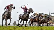 2 April 2018; General Principle, second from left, with JJ Slevin up, races alongside Isleofhopendreams, left, with Danny Mullins up, who finished second, on their way to winning the BoyleSports Irish Grand National Steeplechase on Day 2 of the Fairyhouse Easter Festival at Fairyhouse Racecourse in Meath. Photo by David Fitzgerald/Sportsfile