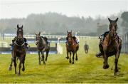 2 April 2018; A general view of loose horses during the BoyleSports Irish Grand National Steeplechase on Day 2 of the Fairyhouse Easter Festival at Fairyhouse Racecourse in Meath. Photo by Seb Daly/Sportsfile