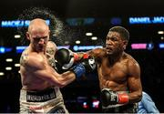 28 April 2018; Daniel Jacobs, right, during his middleweight bout with Maciej Sulecki at the Barclays Center in Brooklyn, New York. Photo by Stephen McCarthy/Sportsfile