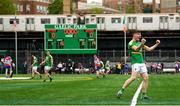 6 May 2018; Shane Quinn of Leitrim celebrates his side's victory following the Connacht GAA Football Senior Championship Quarter-Final match between New York and Leitrim at Gaelic Park in New York, USA. Photo by Stephen McCarthy/Sportsfile