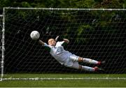 29 July 2018; Ryan Maher of St Kevin's makes a save during Ireland's premier underaged soccer tournament, the Volkswagen Junior Masters. The competition sees U13 teams from around Ireland compete for the title and a €2,500 prize for their club, over the days of July 28th and 29th, at AUL Complex in Dublin. Photo by Seb Daly/Sportsfile