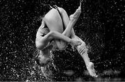 4 August 2018; (EDITOR'S NOTE; Image has been converted to Black & White) Team Ukraine competing in the Synchronised Swimming Team Free Routine Final during day three of the 2018 European Championships at the Scotstoun Sports Campus in Glasgow, Scotland. Photo by David Fitzgerald/Sportsfile