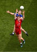 12 August 2018; Peter Harte of Tyrone in action against Fintan Kelly of Monaghan during the GAA Football All-Ireland Senior Championship Semi-Final match between Monaghan and Tyrone at Croke Park, in Dublin. Photo by Daire Brennan/Sportsfile