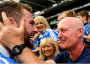 2 September 2018; Jack McCaffrey of Dublin celebrates with his father Noel following the GAA Football All-Ireland Senior Championship Final match between Dublin and Tyrone at Croke Park in Dublin. Photo by David Fitzgerald/Sportsfile