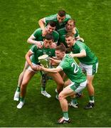 19 August 2018; Kevin Downes takes a selfie with the Liam MacCarthy Cup and team-mates, left to right, Gearóid Hegarty, Declan Hannon, Michael Casey, Shane Dowling and Peter Casey after the GAA Hurling All-Ireland Senior Championship Final match between Galway and Limerick at Croke Park in Dublin. Photo by Daire Brennan/Sportsfile