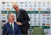 25 November 2018; Newly appointed Republic of Ireland manager Mick McCarthy, right, with John Delaney, CEO, Football Association of Ireland, prior to a press conference at the Aviva Stadium in Dublin. Photo by Ramsey Cardy/Sportsfile