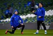 14 December 2018; Jonathan Sexton, left, and James Lowe during the Leinster Rugby captains run at the Aviva Stadium in Dublin. Photo by Ramsey Cardy/Sportsfile