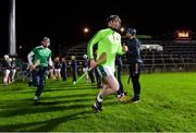 14 December 2018; Limerick captain Declan Hannon leads his side to the pitch, through a guard of honour formed by the Tipperary team prior to the Co-Op Superstores Munster Hurling League 2019 match between Limerick and Tipperary at the Gaelic Grounds in Limerick. Photo by Matt Browne/Sportsfile