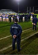 14 December 2018; Tipperary manager Liam Sheedy during the national anthem before the Co-Op Superstores Munster Hurling League 2019 match between Limerick and Tipperary at the Gaelic Grounds in Limerick. Photo by Matt Browne/Sportsfile