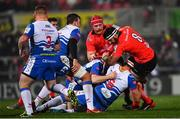 14 December 2018; Marcell Coetzee of Ulster is tackled by Lewis Rawling of Scarlets during the Heineken Champions Cup Pool 4 Round 4 match between Ulster and Scarlets at the Kingspan Stadium in Belfast. Photo by Ramsey Cardy/Sportsfile