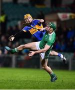 14 December 2018; Sean Finn of Limerick in action against Seamus Callanan of Tipperary during the Co-Op Superstores Munster Hurling League 2019 match between Limerick and Tipperary at the Gaelic Grounds in Limerick. Photo by Matt Browne/Sportsfile