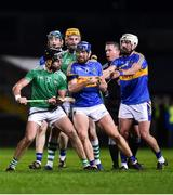 14 December 2018; Players from both sides tussle during the Co-Op Superstores Munster Hurling League 2019 match between Limerick and Tipperary at the Gaelic Grounds in Limerick. Photo by Matt Browne/Sportsfile