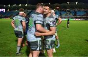 14 December 2018; Cian Kelleher, right, and Conor Carey of Connacht celebrate after the Heineken Champions Cup Pool 3 Round 4 match between Perpignan and Connacht at the Stade Aime Giral in Perpignan, France. Photo by Brendan Moran/Sportsfile