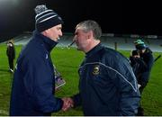 14 December 2018; Limerick manager John Kiely, left, and Tipperary manager Liam Sheedy following the Co-Op Superstores Munster Hurling League 2019 match between Limerick and Tipperary at the Gaelic Grounds in Limerick. Photo by Matt Browne/Sportsfile