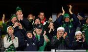 14 December 2018; Connacht supporters cheer their players after the Heineken Champions Cup Pool 3 Round 4 match between Perpignan and Connacht at the Stade Aime Giral in Perpignan, France. Photo by Brendan Moran/Sportsfile