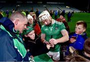 14 December 2018; Cian Lynch of Limerick signs autographs for supporters after the Co-Op Superstores Munster Hurling League 2019 match between Limerick and Tipperary at the Gaelic Grounds in Limerick. Photo by Matt Browne/Sportsfile