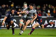 14 December 2018; Cian Kelleher of Connacht beats the tackles of Sadek Degmache, right, and Tima Fainga'anuku on the way to scoring his side's fifth try during the Heineken Champions Cup Pool 3 Round 4 match between Perpignan and Connacht at the Stade Aime Giral in Perpignan, France. Photo by Brendan Moran/Sportsfile