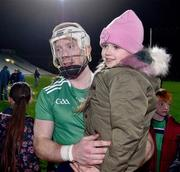 14 December 2018; Six year old Heidi McInerney, from Banogue, Co Limerick, with Cian Lynch of Limerick after the Co-Op Superstores Munster Hurling League 2019 match between Limerick and Tipperary at the Gaelic Grounds in Limerick. Photo by Matt Browne/Sportsfile