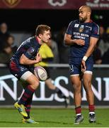 14 December 2018; Paddy Jackson of Perpignan, left, during the Heineken Champions Cup Pool 3 Round 4 match between Perpignan and Connacht at the Stade Aime Giral in Perpignan, France. Photo by Brendan Moran/Sportsfile