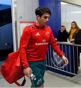 15 December 2018; Joey Carbery of Munster arrives prior to the Heineken Champions Cup Pool 2 Round 4 match between Castres and Munster at Stade Pierre Fabre in Castres, France. Photo by Brendan Moran/Sportsfile