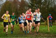 15 December 2018; Athletes competing in the men's novice 6000m race during the Irish Life Health Novice & Juvenile Uneven Age Cross Country Championships 2018 at Navan Adventure Sports, Navan Racecourse in Meath. Photo by Eóin Noonan/Sportsfile