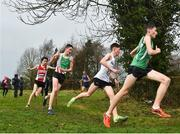 15 December 2018; Athletes competing in the boys U19 6000m race during the Irish Life Health Novice & Juvenile Uneven Age Cross Country Championships 2018 at Navan Adventure Sports, Navan Racecourse in Meath. Photo by Eóin Noonan/Sportsfile