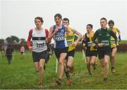 15 December 2018; Athletes competing in the boys U17 5000m race during the Irish Life Health Novice & Juvenile Uneven Age Cross Country Championships 2018 at Navan Adventure Sports, Navan Racecourse in Meath. Photo by Eóin Noonan/Sportsfile