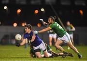 15 December 2018; Peter Hanley of Longford in action against Eoin Lynch of Meath during the Bord na Móna O'Byrne Cup Round 2 match between Meath and Longford at Donaghmore Ashbourne GFC in Ashbourne, Co Meath. Photo by Harry Murphy/Sportsfile