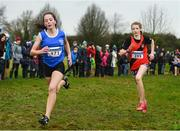 15 December 2018; Saoirse Fitzgerald of Lucan Harriers, A.C. Dublin during the girls U13 2500m race during the Irish Life Health Novice & Juvenile Uneven Age Cross Country Championships 2018 at Navan Adventure Sports, Navan Racecourse in Meath. Photo by Eóin Noonan/Sportsfile