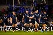 15 December 2018; Leinster's Tadhg Furlong, left, is congratulated by team-mate Seán Cronin following their side's first try during the Heineken Champions Cup Pool 1 Round 4 match between Leinster and Bath at the Aviva Stadium in Dublin. Photo by Seb Daly/Sportsfile