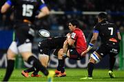 15 December 2018; Joey Carbery of Munster is tackled by Thomas Combezou of Castres Olympique during the Heineken Champions Cup Pool 2 Round 4 match between Castres and Munster at Stade Pierre Fabre in Castres, France. Photo by Brendan Moran/Sportsfile