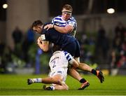 15 December 2018; Jack Conan of Leinster is tackled by Jacques van Rooyen, behind, and Tom Dunn of Bath during the Heineken Champions Cup Pool 1 Round 4 match between Leinster and Bath at the Aviva Stadium in Dublin. Photo by Seb Daly/Sportsfile