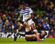 15 December 2018; Rhys Ruddock of Leinster wins possession ahead of Semesa Rokoduguni of Bath during the Heineken Champions Cup Pool 1 Round 4 match between Leinster and Bath at the Aviva Stadium in Dublin. Photo by Seb Daly/Sportsfile